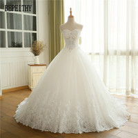 New Arrival Vestido De Novia Elegant Fashionable Sweetheart Bride Wedding Gowns Lace Appliques A Line Wedding