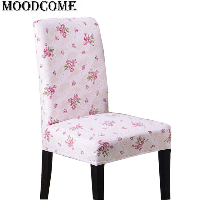 dining chair covers aliexpress images of rose flower printed office cover spandex funda silla stuhlbezug room polyester
