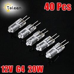 40 шт. мини G4 энергосберегающая Вольфрамовая галогенная Тип JC лампочка лампа 12 В 20 Вт G4 прожектор для хрустальных галогенные люстры лампа