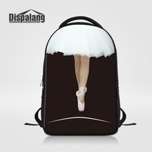 Dispalang дизайнер рюкзак для женщин танцы, балет девушка школы рюкзак для девочек Туристические сумки для ноутбуков Mochila escolares рюкзак