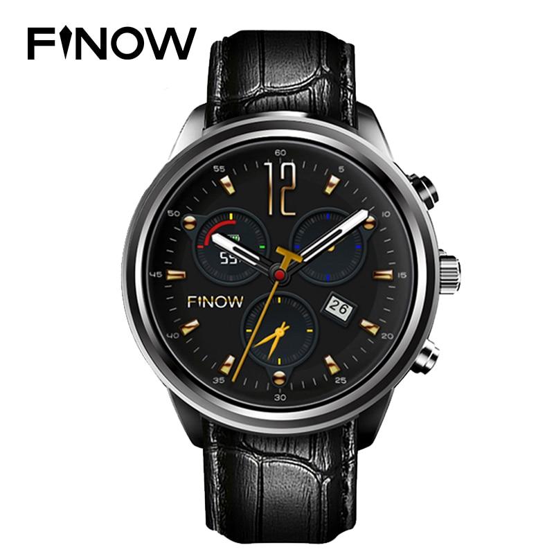 Finow X5Plus Smart Watch Men Android 5.1 MTK6580 AMOLED 1G+8G Bluetooth Watches Wifi Heart Rate Wearable Devices For IOS/Android finow x5 plus smart watch mtk6580 quad core 1 39 amoled 1g 8g bluetooth wifi heart rate smart electronics pk kw88 lem5 pro watch