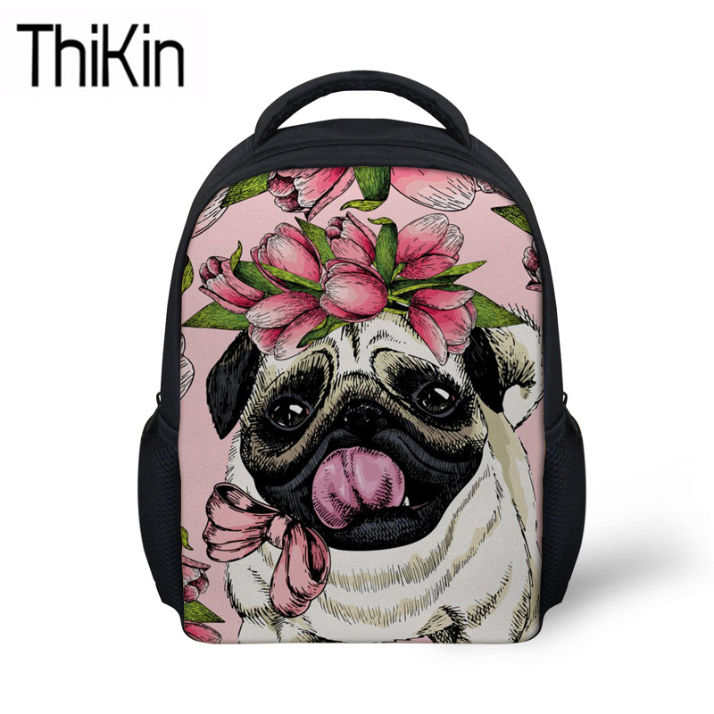 Corgi Bulldog Dog Backpack Women kids School Bookbag Laptop Anti-theft Rucksack
