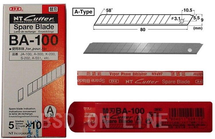 5 X LAME DE RECHANGE POUR CUTTER N°2-5 X SPARE BLADES FOR CUTTER NR 2