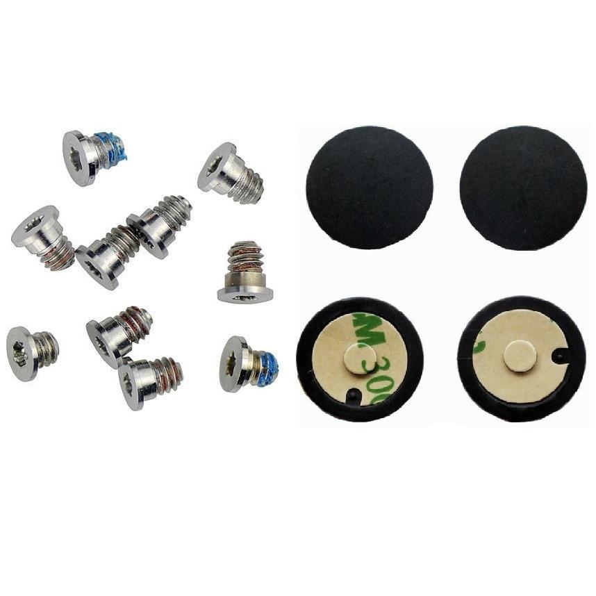 Bottom Case Screws Set & Bottom Case Rubber Feet 4pcs/set For Apple Macbook Pro 13'' 15'' Retina A1425 A1502 A1398