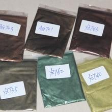 6 цветов Смешанная здоровая Натуральная Минеральная пудра MICA порошок DIY для красителя мыла краситель для мыла макияж
