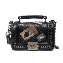 Сумка через плечо, модная женская сумка, женские кошельки и сумки, дизайнерские Брендовые женские Сумки из искусственной кожи, сумка на плечо с цепочкой 751