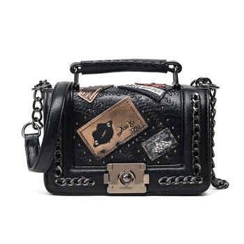 Crossbody bag Fashion Women Bag Women Purses And Handbags Designer Brand Ladies Hand Bags PU Leather Chain Shoulder Bag 751