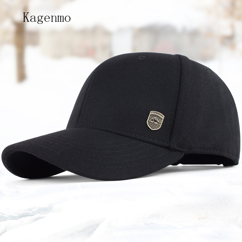 Kagenmo Male winter warm hat male hat woolen baseball cap winter cap the elderly autumn and winter cotton hat for man kagenmo spring and autumn warm ear protection baseball cap upset cotton hat russian love 5color 1pcs brand new arrive