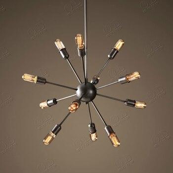 12 Lights American Vintage Industrial Pendant Light Satellite Style Restaurant Cafe Decor Lamparas Lustre E27 110-240V