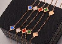 Voet jewery enkelbanden voor vrouwen met clover bloem charm voor zee strand