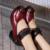 Estilo étnico Cuero Genuino Zapatos de Mujer Con tacones gruesos zapatos madre zapatos de cuero sandalias de suela de suaves