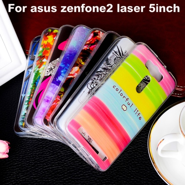AKABEILA Phone Covers Cases For Asus Zenfone 2 Laser ZE500KL ASUS_Z00RD Zenfone2 Laser ZE500KG 5.0 inch Case Plastic TPU Case