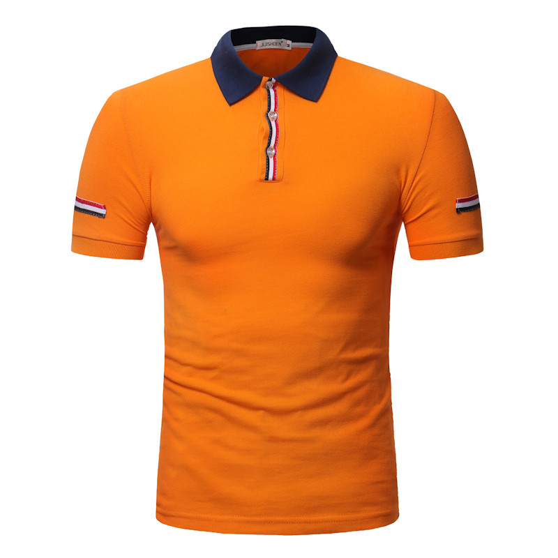 2019 New Arrive Male   Polo   Solid Slim Fit   Polo   Men Appliques Short Sleeve   Polos   Modis Clothing 6 Colors