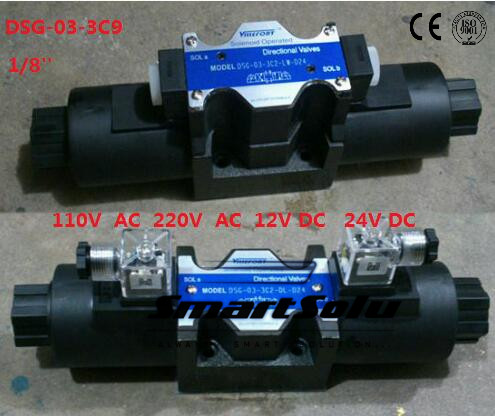 Free shipping DSG-03-3C9 12V DC 1/8''  SOLENOID OPERATED DIRECTIONAL CONTROL VALVE, Terminal Box Type Plug-in Connector Type smt dsg 02 3c5 rc 3 8 24v dc solenoid operated directional valve 3 positions spring centred terminal box plug in connector type
