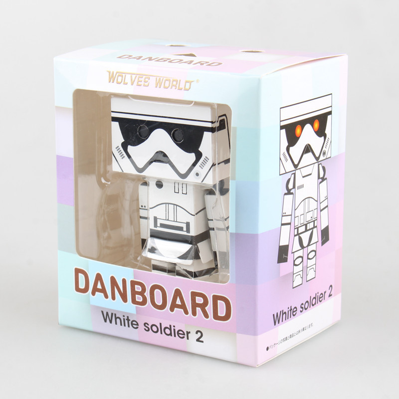 Star Wars 7 Danboard Cos Stormtrooper with Light PVC Action Figure Collectible Model Toy 8m KT1873 cute lovely danboard danbo doll pvc action figure toy with led light 13cm