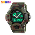2017 Quartz Digital Camo Watch Men Dual Time Man Sports Watches Men Skmei S Shock Military Army Reloj Hombre LED Wrist Watches