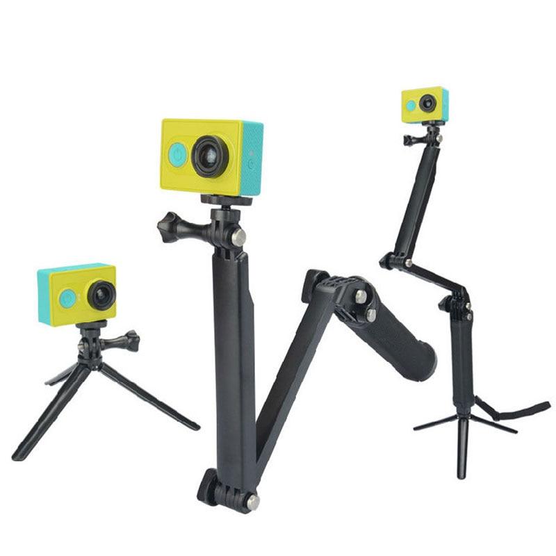 3 Way Grip Monopod Extension Arm Mini Tripod Mount for Xiaomi Yi Gopro Hero 4 3 SJCAM SJ4000 SJ5000 Sport Camera Accessories