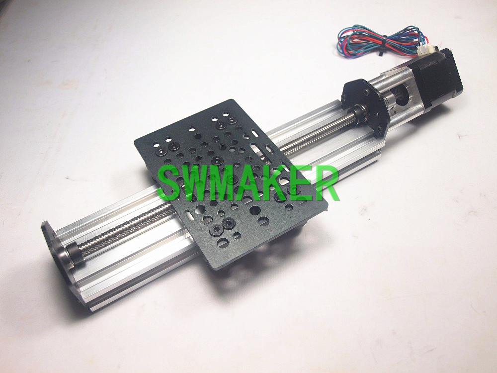 SWMAKER CNC V-Slot NEMA 17 Linear Actuator Bundle (Lead Screw) Z-axis router kit 250mm for DIY CNC and Reprap 3D printer v slot nema 17 linear actuator bundle diy lead screw driven kit with nema 17 stepper motor for openbuilds 1000mm
