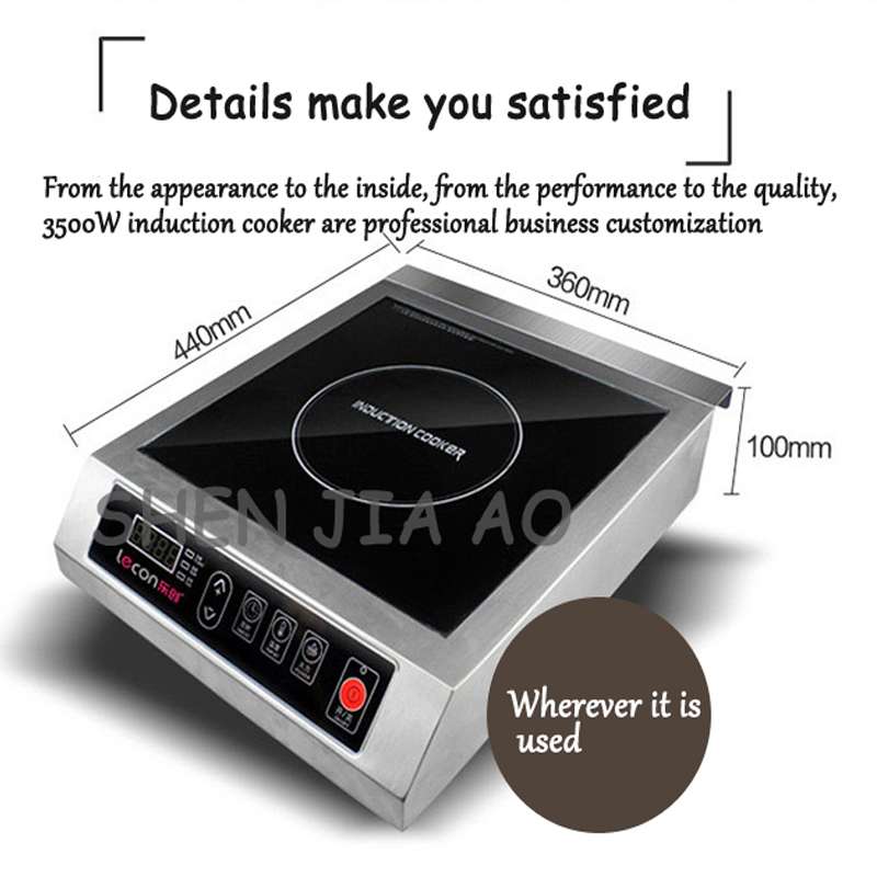 Commercial Induction Cooker 3500W Flat High Power Induction Cooker Industrial Induction Cooker Hotel Stove Furnace Drum Sink 1pc цена