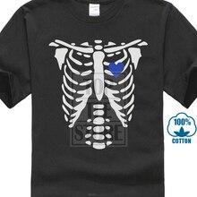 7f2116125737b Gildan Tee Shirt For Men O Neck Tops Male Skeleton X Ray Hearts Matching T  Shirts