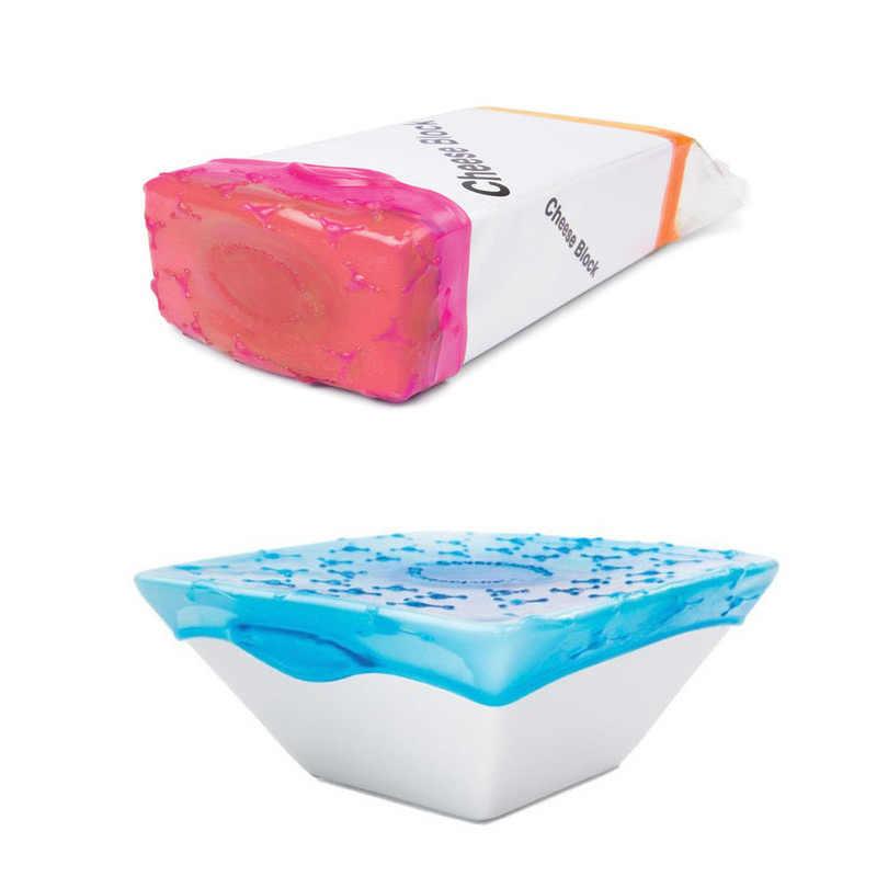 Envoltura adhesiva reutilizable de silicona saludable para alimentos envolver 4 piezas para cocina fruta película de envoltura de bocadillos estirable EGN272