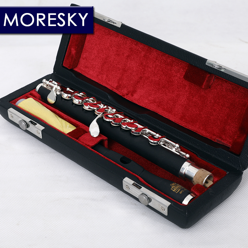Andoer Piccolo Ottavino Half-size Flute Cupronickel Silver Plated C Key Tone with Cork Grease Polish Cloth Cleaning Stick Padded Box Case Screwdriver Silver