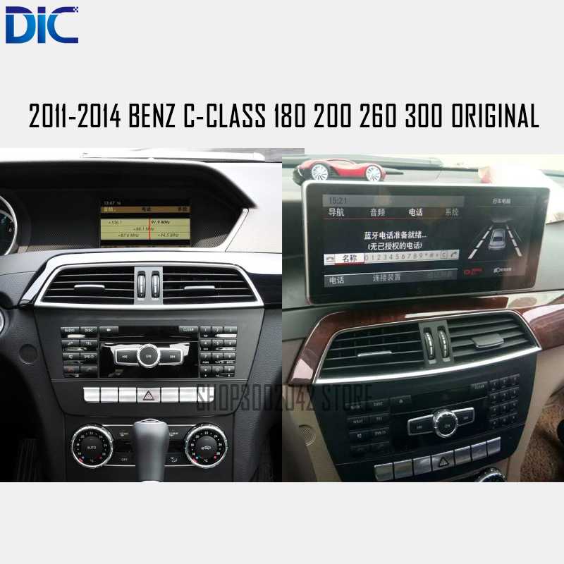 DLC android system car player navigation For Benz C Class 2011 2014 C180 200 260 300
