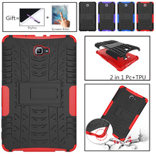 Tire Silicon Cover for Samsung Galaxy Tab A A6 10.1 inch 2016 Case T585 T580N T585N SM-T580 SM-T585 Funda Coque Stand Holde cowboy pattern case for samsung galaxy tab a a6 10 1 2016 t580 t585 sm t580 t580n case cover funda tablet stand protective shell