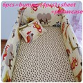Promotion! 6/7PCS cot bedding sets,100% cotton baby crib beding sets with filling,120*60/120*70cm