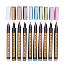 Металлические маркеры 10 шт разные цветные металлические Перманентная краска маркеры ручки металлический маркер Прямая поставка 2018a11