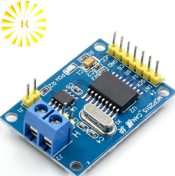 MCP2515 CAN Bus Module TJA1050 Receiver SPI Module For 51 MCU ARM Controller DC 5V SPI Interface Control image