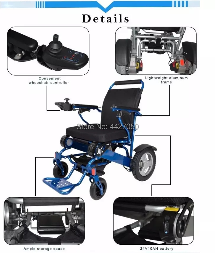 Free shipping 6 colors foldable electric large loading 180kg power electric wheelchair for disabled people 12