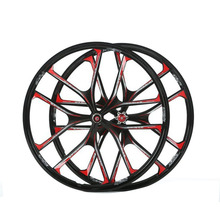 все цены на MTB 5 spokes mountain bike wheels 27.5 magnesium alloy  26 speeds  wheels 26 inches Mountain Bicycle Wheel parts bike rims онлайн