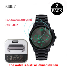 2Pack For Armani ART5000 / ART5002 Watch Film 0.3mm 2.5D 9H Clear Tempered Glass Screen Protector Scratch Resistant for armani 2pack for suunto spartan sport wrist hr 0 3mm 2 5d 9h clear tempered glass screen protector smart watch film scratch resistant