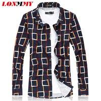M 7XL Mercerized Cotton Plaid Shirts Men Shirt High Quality Short Sleeves Mens Dress Shirts Camisa