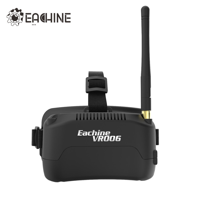 In Stock Eachine E013 VR006 VR-006 One-antenna 3 Inch 5.8G 40CH Mini FPV Goggles Build in 3.7V 500mAh Battery VS Fatshark Aomway in stock eachine ev800d 5 8g 40ch diversity fpv goggles 5 inch 800 480 video headset hd dvr build in battery vs fatshark aomway