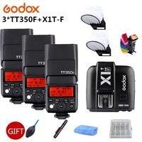 3x Godox TT350F 2,4 г HSS ttl GN36 Вспышка Speedlite + X1T F триггер передатчик Комплект для Fuji X Pro2/X T20/X T1/X T2