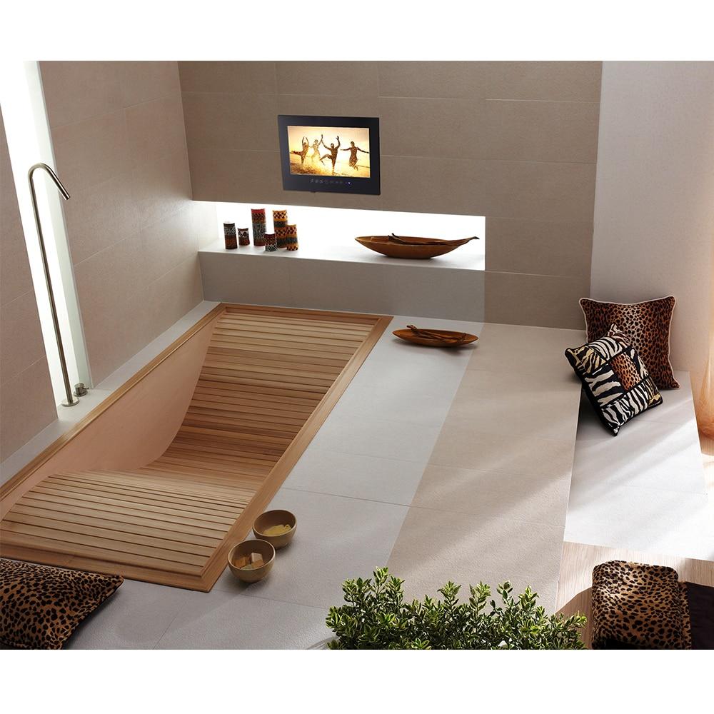 "HTB1Pl1XclDH8KJjSspnq6zNAVXai 15.6"" inch IP66 Bathroom LED TV Waterproof Wall Mount Water-Resistant LED TV for SPA (Black/White)"