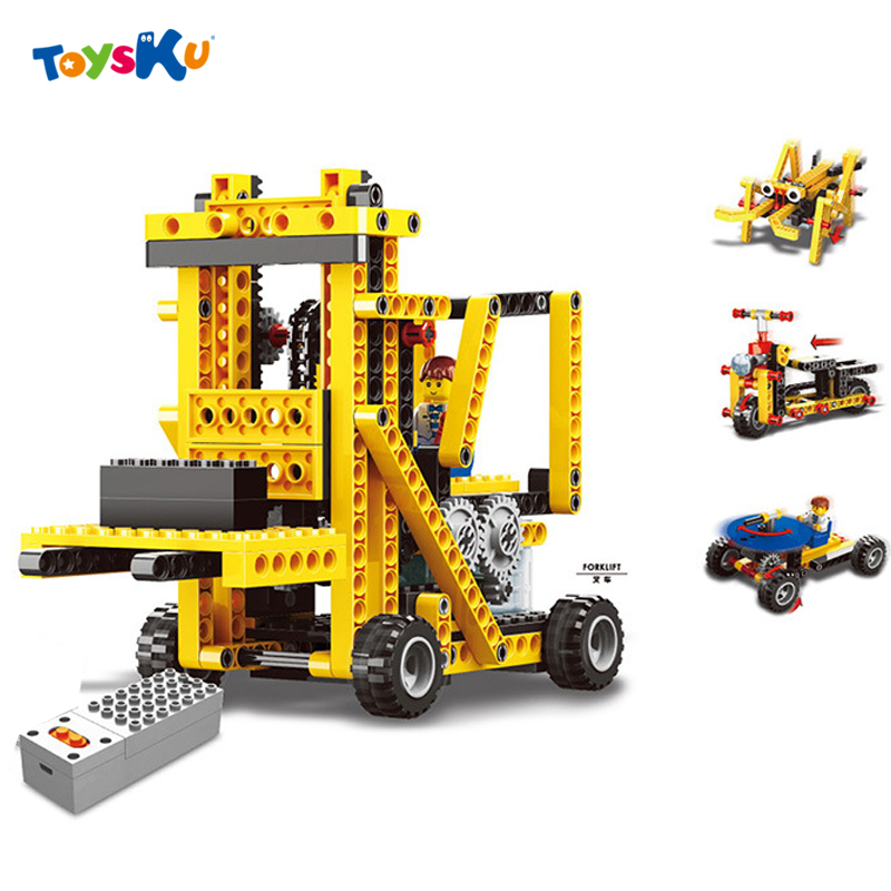 ФОТО Power Machinery Model Blocks Toys 4 in 1 Technic Educational Toys Electronic Engineering Crane Assembly Blocks