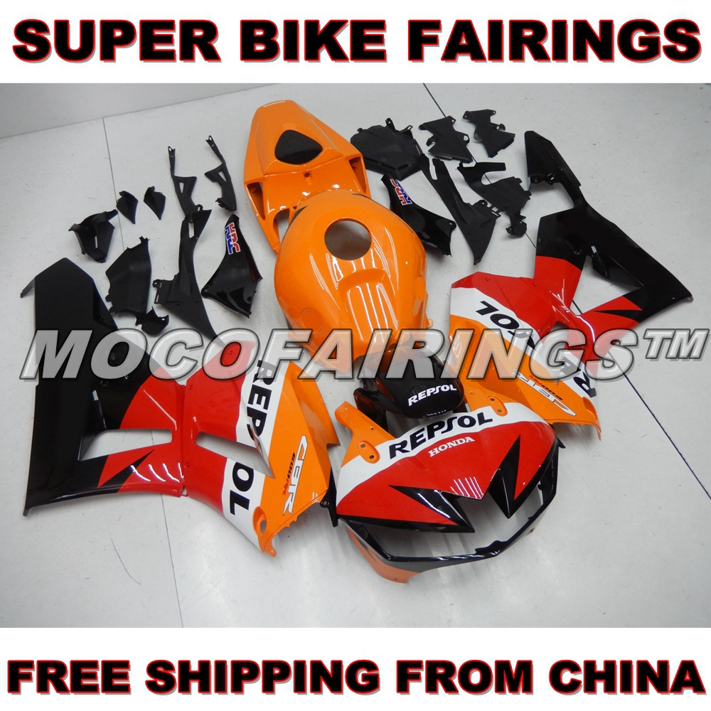 Motorcycle Fairing Body For Honda CBR 600RR CBR600RR 2013 2014 CBR600 RR F5 13 14 Injection ABS Fairings Kits ORANGE REPSOL NEW for 2013 2014 honda cbr600rr cbr600 rr f5 motorcycle pillion rear seat cover cowl red 13 14