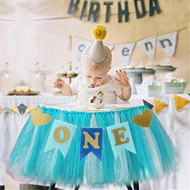 Baby First Birthday Banner Party Decoration