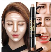 Lady Facial Highlight Foundation Base Contour Stick Beauty Make Up Face Powder Cream Shimmer Concealer Camouflage Pen Makeup heres b2uty highlight foundation base contour stick beauty make up face powder cream shimmer concealer camouflage pen makeup