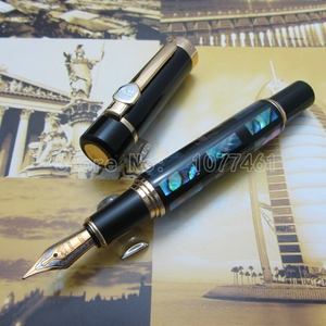 Jinhao Fountain Pen Bright Pearl Dark Green Sea Shell With Gift Box JC23H1
