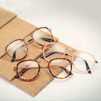 New Arrival Stylish Decoration Optical Eyeglasses Myopia Round Metal Women Spectacles HM01 HM24