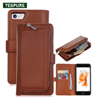 YESPURE Shockproof Phone Leather Covers for Iphone 6plus/6s Plus Mobile Back Cover Phone Accessories Handphone Accessories Brown