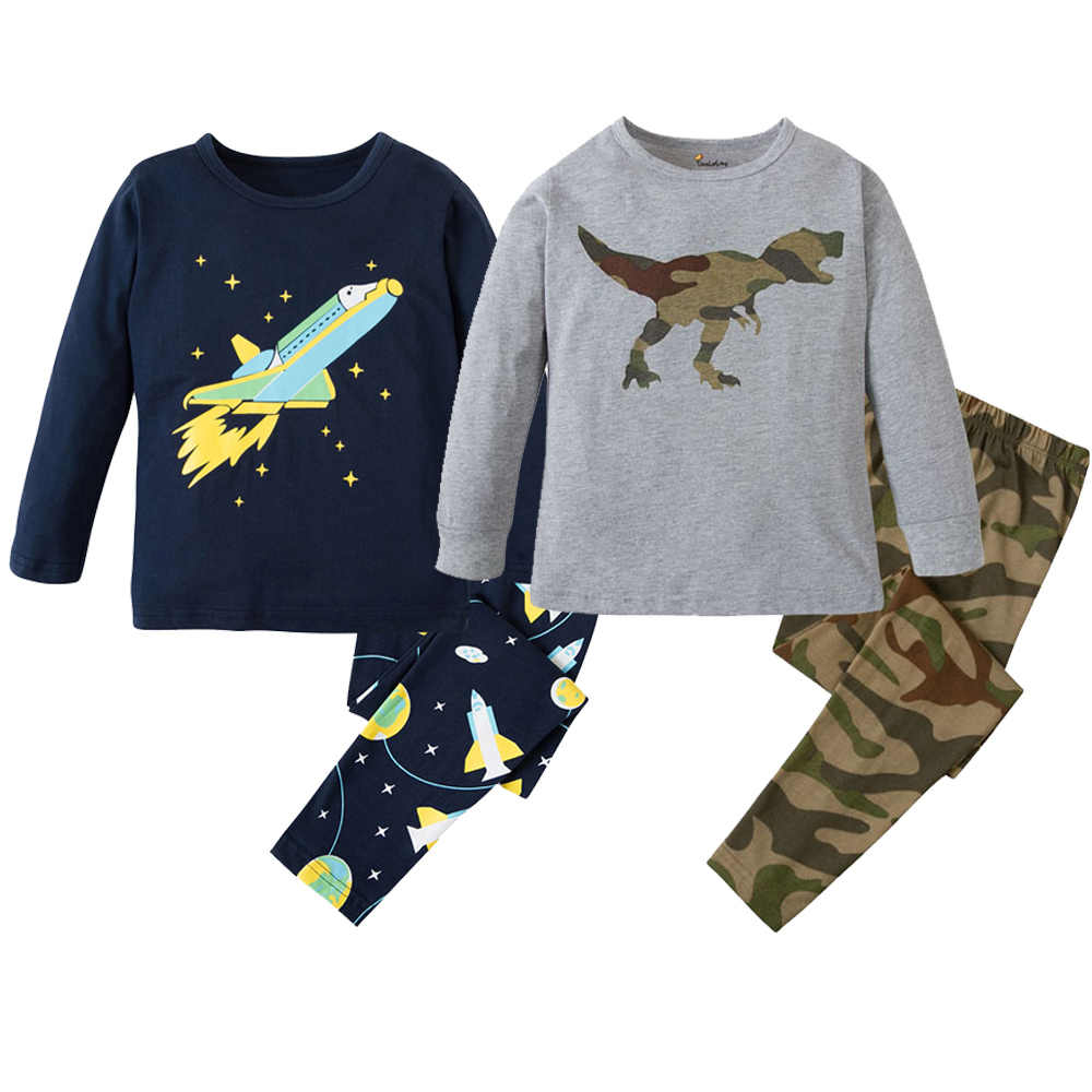 e461dc86b Detail Feedback Questions about Brand New Boys Pajamas Kids Dinosaur ...