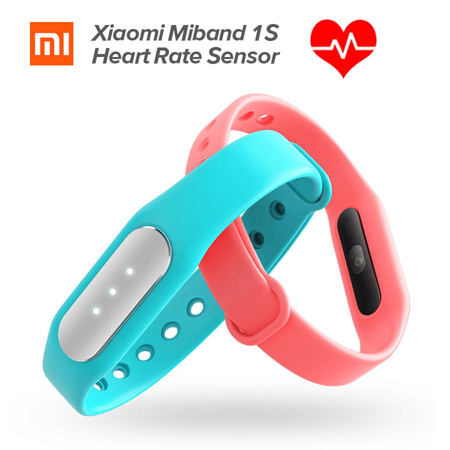 New Original Xiaomi Mi Band 1S Heart Rate Monitor Smart Wristband Xiaomi Miband Bracelet 1 S IP67 Bluetooth For Android IOS tpu band with white round dot for xiaomi miband 1s