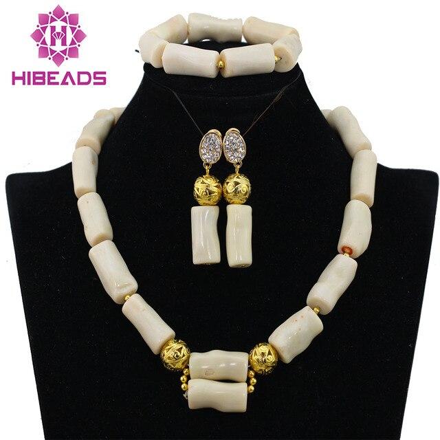 2016 New Genuine Coral Beads Necklace Jewelry Nigerian Wedding
