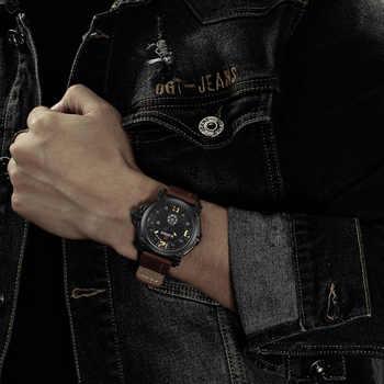 NAVIFORCE Mens Watches Top Brand Luxury Sport Quartz-Watch Leather Strap Clock Men Waterproof Wristwatch relogio masculino 9099