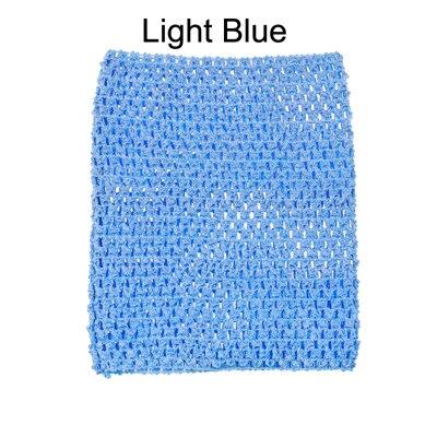 Вязанная крючком юбка-пачка для маленьких девочек, 9 дюймов, топы-трубы, обхват груди, широкая вязаная крючком, топы, юбка-пачка «сделай сам», платье, поставщик - Цвет: Light Blue Tutu Top